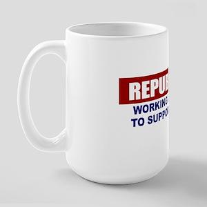 3-Republicans-working-like-crazy Large Mug