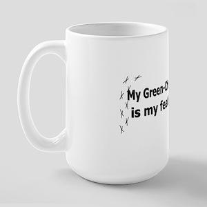 featheredkids_greencheekedconure Large Mug