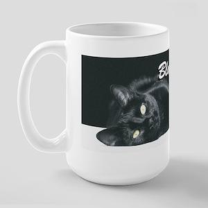 Black Cats Rule 2 Large Mug