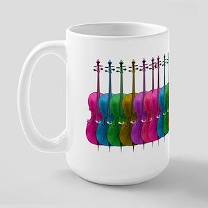 Colorful Cello Large Mug