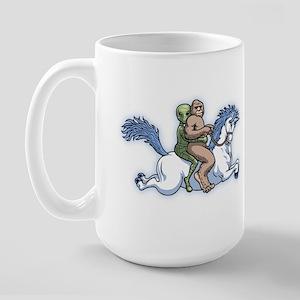 Bigfoot Alien Unicorn Large Mug