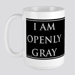 OPENLY GRAY Large Mug