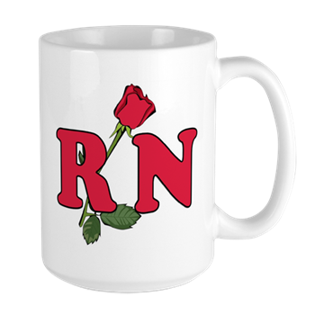RN Nurses Rose Large Mug