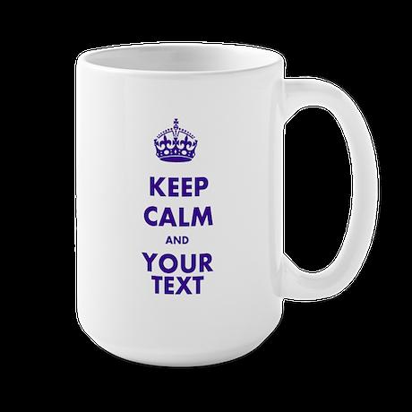 Personalized Keep Calm Large Mug