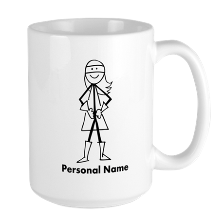 Personalized Super Girl Large Mug