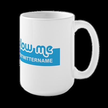 Personalizable Twitter Follow Large Mug