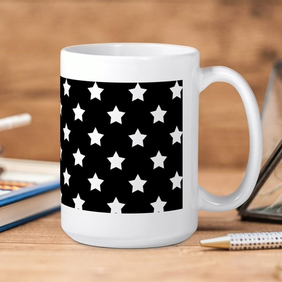 Black and White Stars Pattern