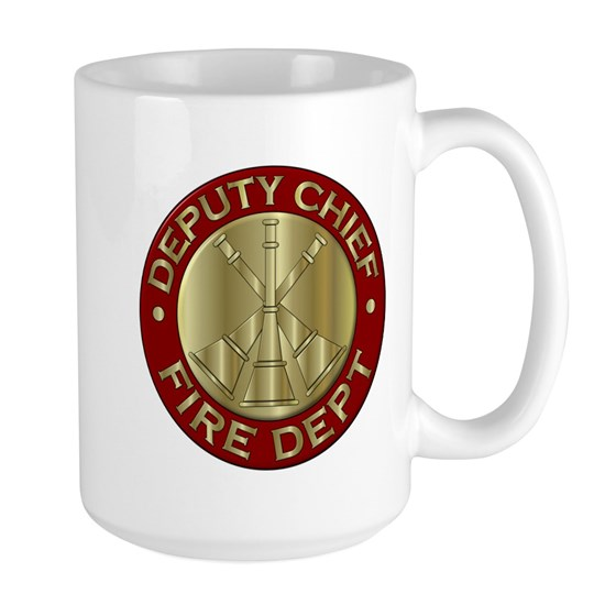 deputy fire chief brass emblem