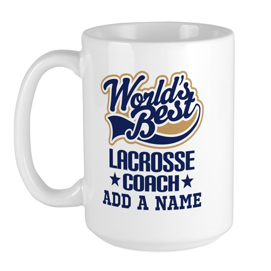 Personalized Lacrosse Coach Gift