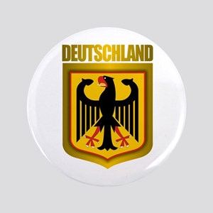 """Deutschland Gold"" 3.5"" Button"