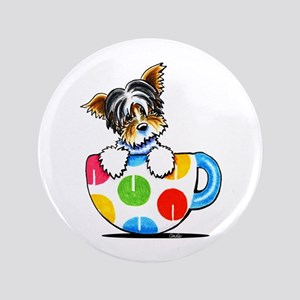"Biewer Yorkie Cup 3.5"" Button"
