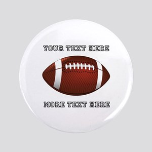 "Personalized Football 3.5"" Button"