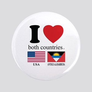"USA-ANTIGUA & BARBUDA 3.5"" Button"