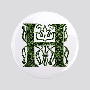 "Ivy Leaf Monogram H 3.5"" Button"