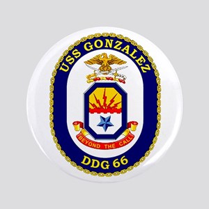 "USS Gonzalez DDG 66 3.5"" Button"