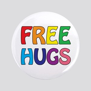 "Free Hugs 3.5"" Button"