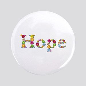 Hope Bright Flowers Big Button