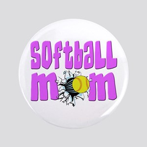 "Softball mom 3.5"" Button"