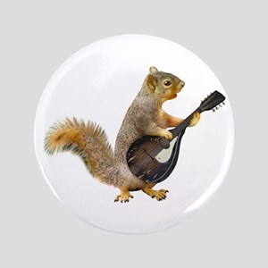 Squirrel Mandolin Button