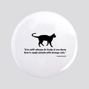 Ancient Cat Proverb Button