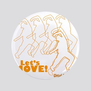 "Lets Move! Dancing Guy Logo 3.5"" Button"