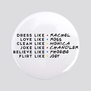"Dress Love Clean Joke Believe Flirt 3.5"" Button"