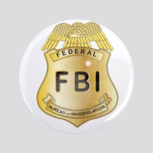 "FBI Badge 3.5"" Button"