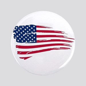 "Tattered US Flag 3.5"" Button"
