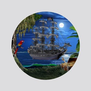 Mystical Moonlit Pirate Ship Button