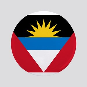 "Flag of Flag of Antigua and Barbuda 3.5"" Button"