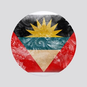 "Antigua and Barbuda Flag 3.5"" Button"