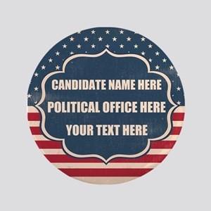 Personalized USA President Button