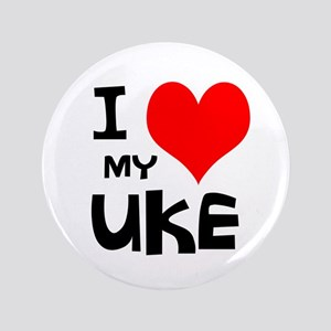 I Love My Ukulele Ukelele Yukelele Heart Hawaiian Buttons