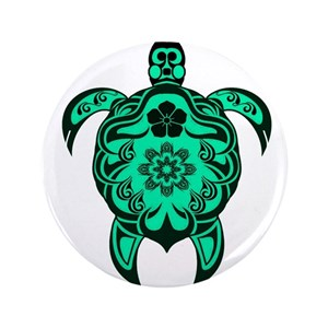 e38a8ba7a Hawaiian Sea Turtle Tattoo Large Buttons - CafePress