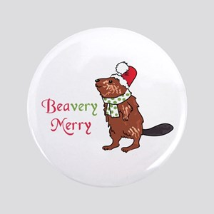 Beavery Merry Button