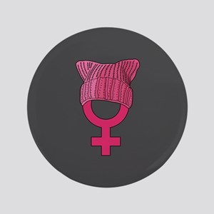 "resist persist pink 3.5"" Button"
