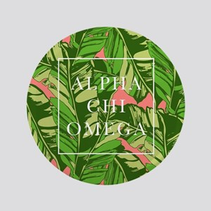 "Alpha Chi Omega Banana Leaves FB 3.5"" Button"