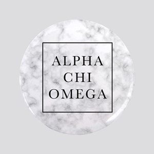 "Alpha Chi Omega Marble FB 3.5"" Button"
