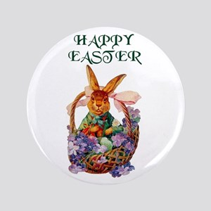 "Vintage Easter Bunny 3.5"" Button"