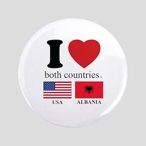 """USA-ALBANIA 3.5"""" Button"""