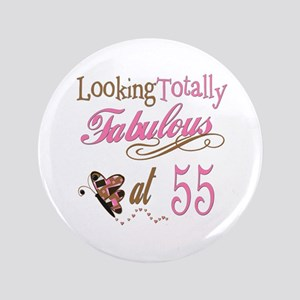 "Fabulous 55th 3.5"" Button"