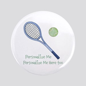 """Personalized Tennis 3.5"""" Button"""