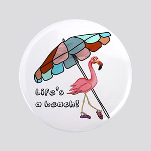 Cute Flamingo Button