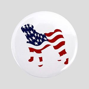 "Patriotic Pug - 3.5"" Button"