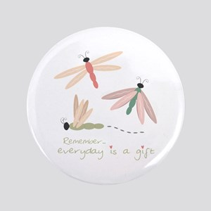 """Dragonfly Day Gift 3.5"""" Button"""