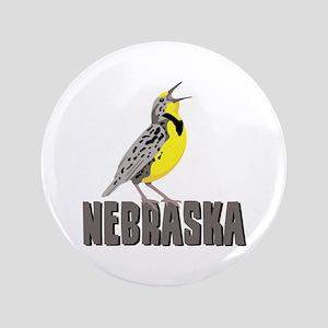 """NEBRASKA Meadowlark 3.5"""" Button"""