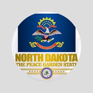 "North Dakota Flag 3.5"" Button"