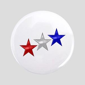 "Three Shiny Stars 3.5"" Button"