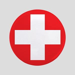 """Original Red Cross 3.5"""" Button"""