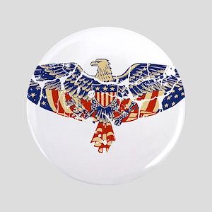 "Retro Eagle and USA Flag 3.5"" Button"